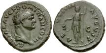 Ancient Coins - Domitian as Caesar Æ As / Aequitas