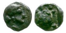Ancient Coins - Asia Minor. Uncertain AR Hemitetartemorion / Tortoise