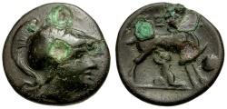 Ancient Coins - Arkadia. Tegea Æ Dichalkon / Doe Suckling Telephos