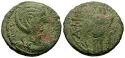 Ancient Coins - Salonina, Caria Aphrodisias Æ21 / Tyche