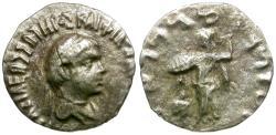 Ancient Coins - Kings of Baktria. Apollodotos II Soter Philopator Megas (80-65 BC) AR Drachm