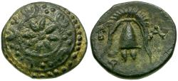 Ancient Coins - Kings of Macedon. Alexander III The Great Æ12 / Shield with Star