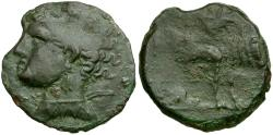 Ancient Coins - Islands off Sicily. Sardinia under Punic Occupation Æ20