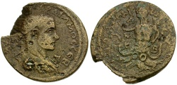 Ancient Coins - Gordian III. Cilicia. Tarsos Æ38 / Scylla