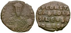 Ancient Coins - *Sear 1761* Byzantine Empire. Constantine VII Porphyrogenitus (AD 913-959), with Romanus I Æ Follis