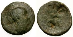 Ancient Coins - F/F Ptolemaic Kings of Egypt, Queen Berenike Æ18 / Eagle