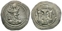 Ancient Coins - Sasanian Empire. Varhran IV (AD 388-399) AR Drachm