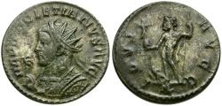 Ancient Coins - Diocletian (AD 284-305) Æ Silvered Antoninianus / IOVI AVGG