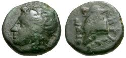 Ancient Coins - Macedon. Galepsos Æ Chalkous / Goat