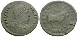 Ancient Coins - Julian II (AD 361-363) Æ Follis / Apis Bull