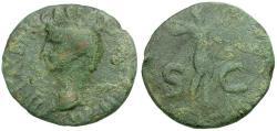Ancient Coins - Claudius Æ AS / Minerva