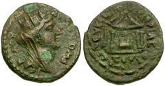 Ancient Coins - Seleucia and Pieria Æ20 / Sacred Stone in Temple