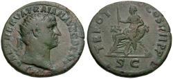 Ancient Coins - Trajan (AD 98-117) Æ Dupondius / Abundantia