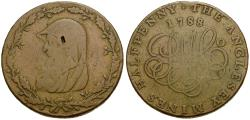 World Coins - Great Britain. Wales. Conder Tokens. Æ Halfpenny Token