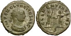 Ancient Coins - Tacitus Silvered Antoninianus / Clementia