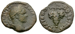 Ancient Coins - Caracalla.  Thrace. Trajanopolis Æ17 / Grapes on Vine