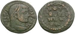 Ancient Coins - Maxentius (AD 306-312) Æ 1/4 Follis / Wreath