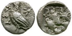 Ancient Coins - Troas. Abydos AR Obol / Eagle & Gorgon