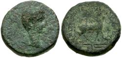Ancient Coins - Tiberius. Phrygia. Apameia Æ15 / Stag