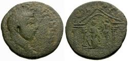 Ancient Coins - gF+/aVF Caracalla, Phoenicia, Akko-Ptolemais Æ26 / Tyche in Temple