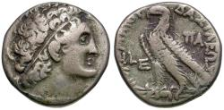 Ancient Coins - Ptolemaic Kings of Egypt. Ptolemy IX Soter II Lathyros (116-107 BC) with Cleopatra III AR Tetradrachm