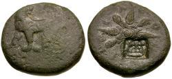 Ancient Coins - Ionia. Miletos. Time of Mausolus Æ13 / Lion