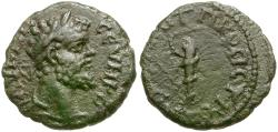 Ancient Coins - Septimius Severus (AD 193-21)1. Moesia Inferior. Nikopolis ad Istrum Æ16 / Club and Snake