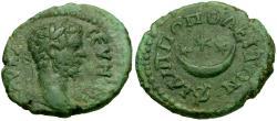 Ancient Coins - Septimius Severus (AD 193-211). Thrace. Philipopolis Æ18 / Crescent and Stars