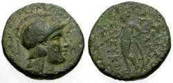 Ancient Coins - VF/GF+  Seleukid Kings of Syria, Seleukos II Kallinikos Æ18 / Apollo