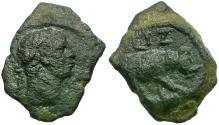 Ancient Coins - Trajan. Egypt. Alexandria Æ Dichalkon / Rhinoceros