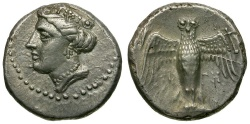 Ancient Coins - Pontos.  Amisos AR Siglos / Owl