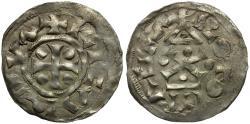 World Coins - Kings of Normandy. Richard I AR Denier / Church