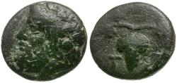 Ancient Coins - Aeolis. Temnos Æ10 / Grapes