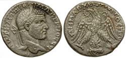 Ancient Coins - Macrinus. Seleucis and Pieria. Emesa BI Tetradrachm / Shamash