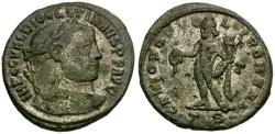 Ancient Coins - Diocletian Silvered Æ Follis / Genius