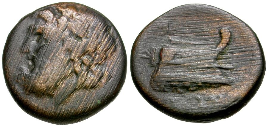 Ancient Coins - Thessaly. Magnetes Æ18 / Prow