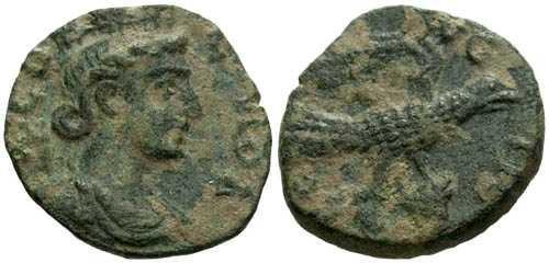 Ancient Coins - VF/VF Alexandria Troas AE19 / Eagle