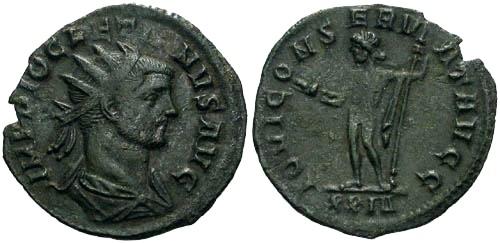 Ancient Coins - VF/VF Diocletian Antoninianus / Jupiter