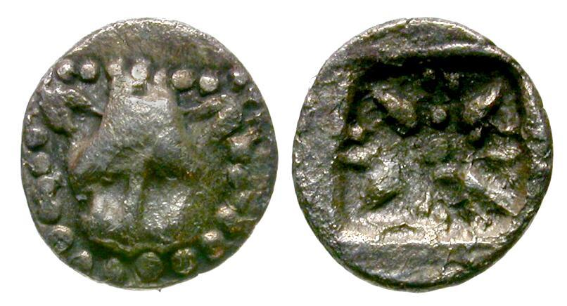 Ancient Coins - Ionia. Miletos AR 1/48 Stater / Lion