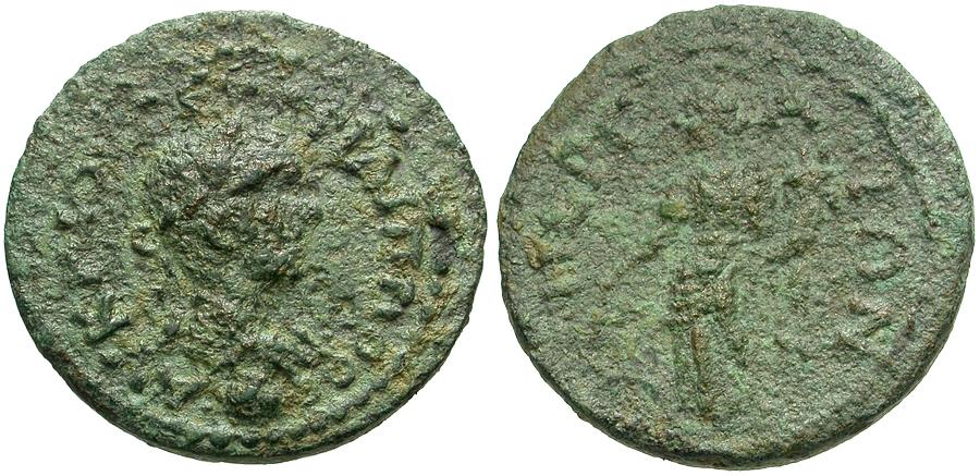 Ancient Coins - Philip II (AD 244-249). Pamphylia. Perge Æ24 / Tyche