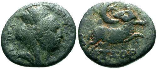 Ancient Coins - aVF/aVF Seleucis and Pieria Antioch AE17 / Star of Bethlehem