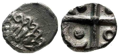 Ancient Coins - VF/VF Volcae Tectosages Tribe AR Drachm / Negroid bust