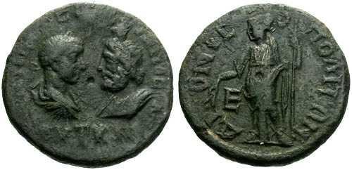 Ancient Coins - aVF/aVFGordian III Provincial Bronze Pentassarion / Dionysopolis