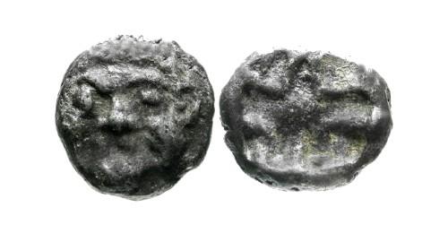 Ancient Coins - aVF/aVF Mysia Parion AR Hemidrachm / Gorgon