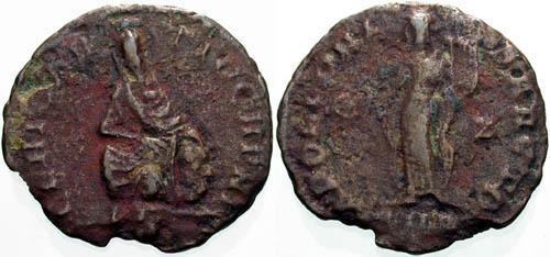 Ancient Coins - F+F+ VF/VF Antioch Civic Coinage 1/4 Follis under Pagan Revival of Maximinus II.
