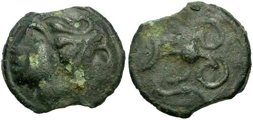 Ancient Coins - aVF/gF Durocasses Tribe Potin / Scarce Tribe and Type