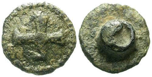 Ancient Coins - Small Byzantine or Medieval fastener with cross