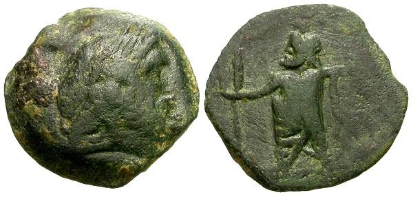 Ancient Coins - gF+/gF+ Ptolemaic Kings of Egypt, Ptolemy IX or Ptolemaios, Cyprus Mint Æ14 / Zeus