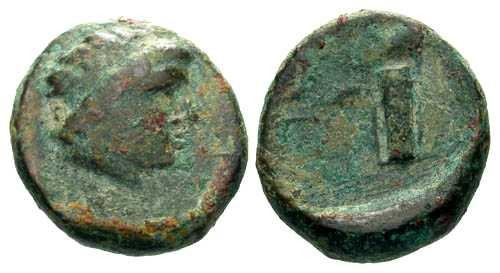 Ancient Coins - aVF/aVF Scarce Pantikapaion AE11 / Bowcase