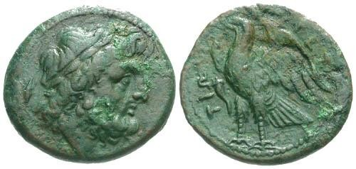 Ancient Coins - VF/aVF Bruttium The Bretti AE Reduced Uncia